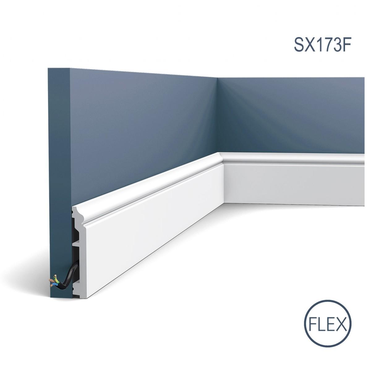 Plinta Flex Axxent SX173F, Dimensiuni: 200 X 1.6 X 10 cm, Orac Decor