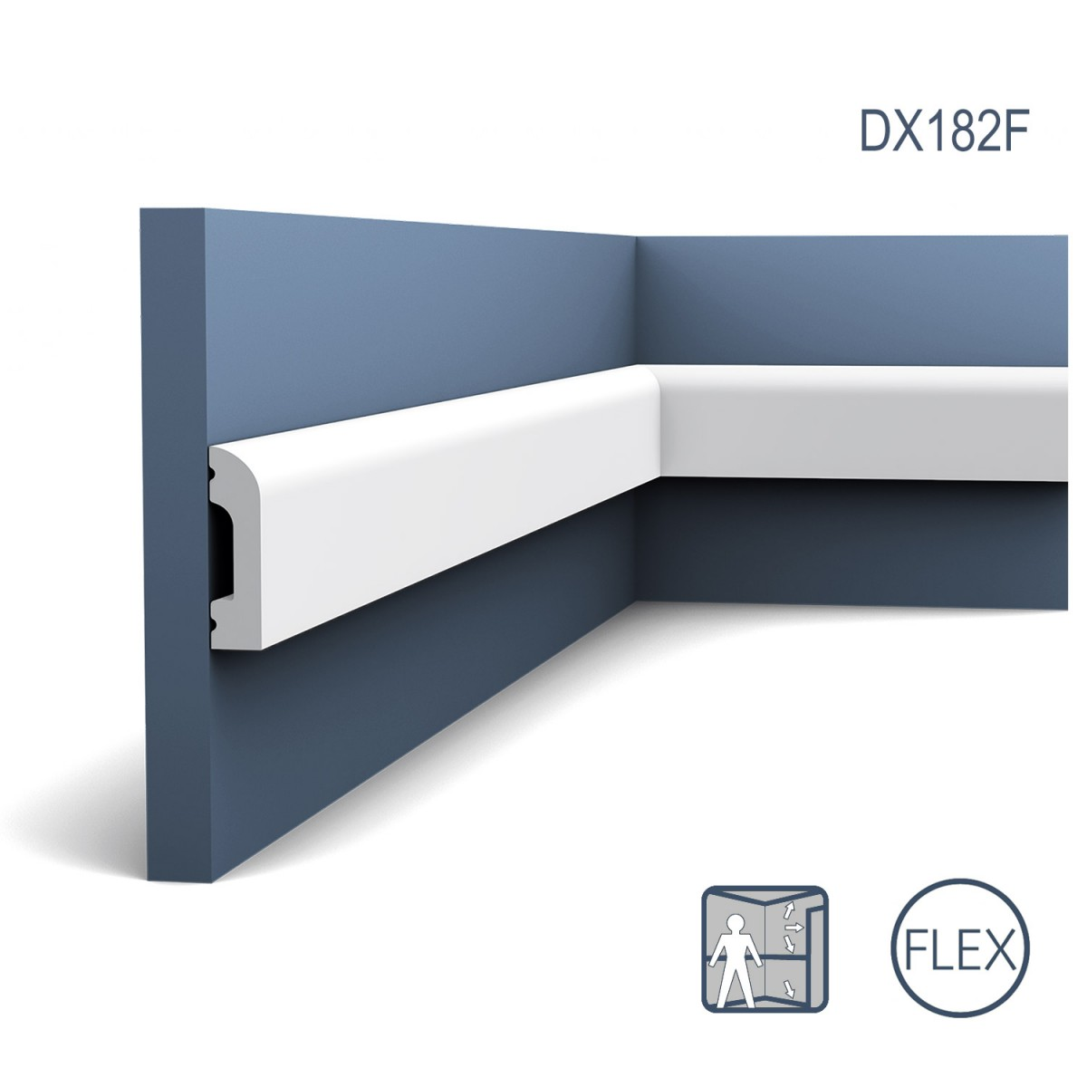Plinta Flex Axxent SX182F, Dimensiuni: 200 X 1.3 X 5 cm, Orac Decor