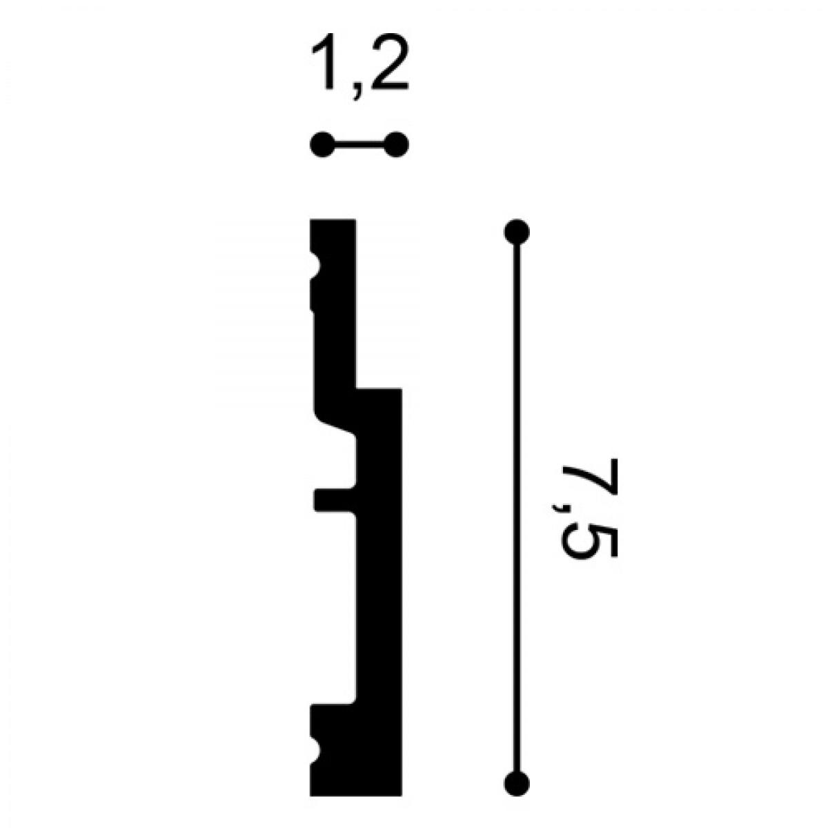 Plinta Flex Modern SX187F, Dimensiuni: 200 X 1.2 X 7.5 cm, Orac Decor