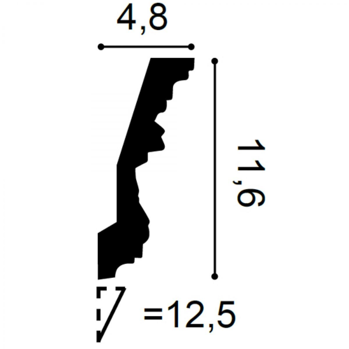 Cornisa Luxxus C201, Dimensiuni: 200 X 11.6 X 4.8 cm, Orac Decor