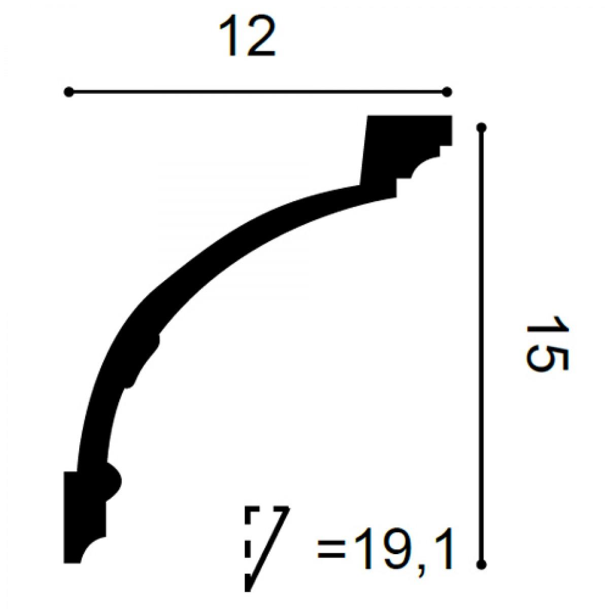 Cornisa Flex Luxxus C218F, Dimensiuni: 200 X 15 X 12 cm, Orac Decor