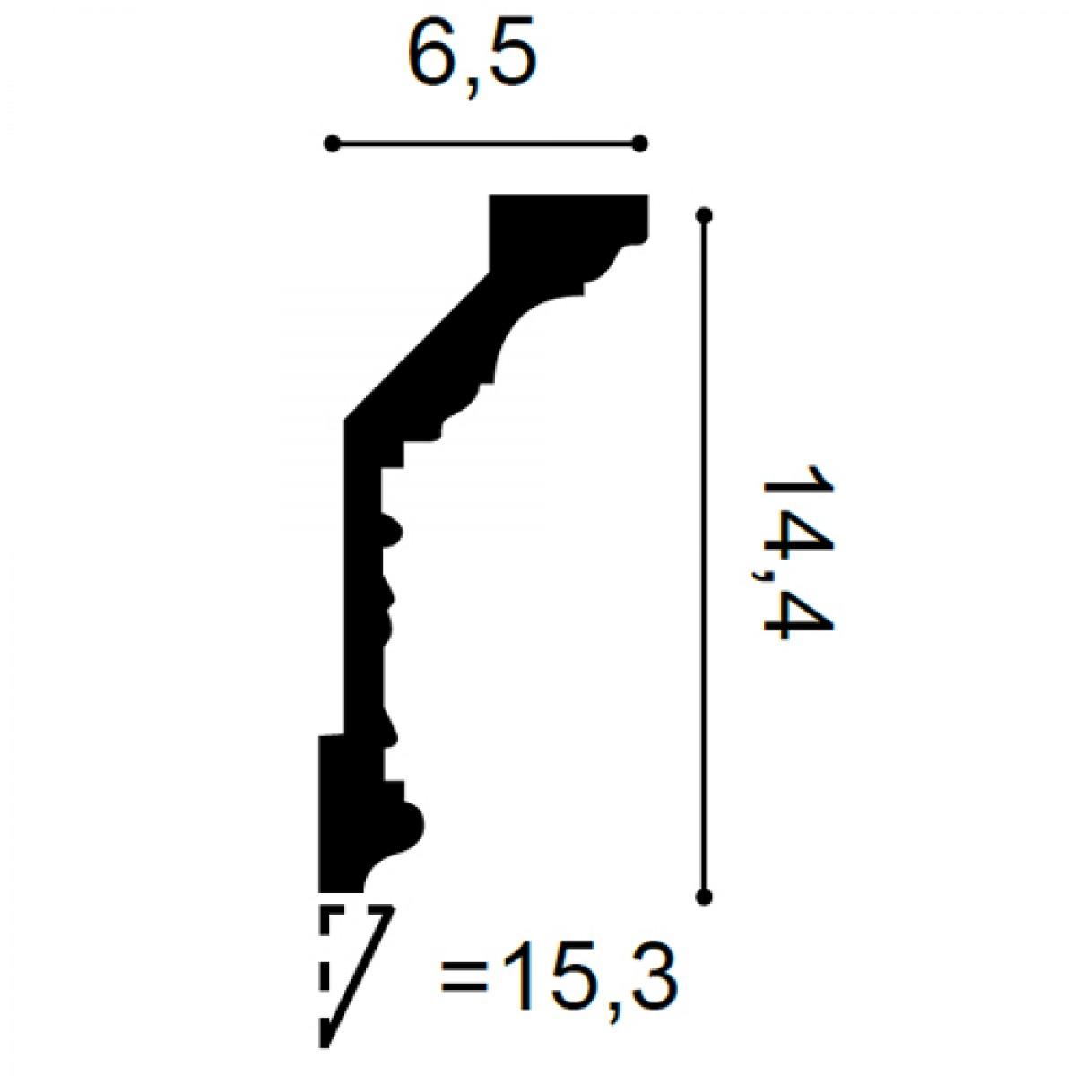 Cornisa Luxxus C303, Dimensiuni: 200 X 14.4 X 6.5 cm, Orac Decor