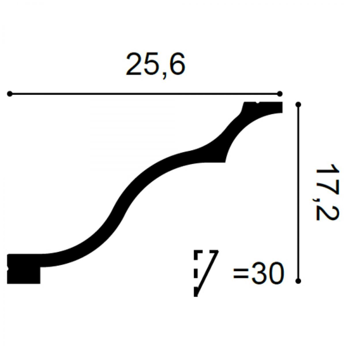 Cornisa Luxxus C337, Dimensiuni: 200 X 25.6 X 17.2 cm, Orac Decor