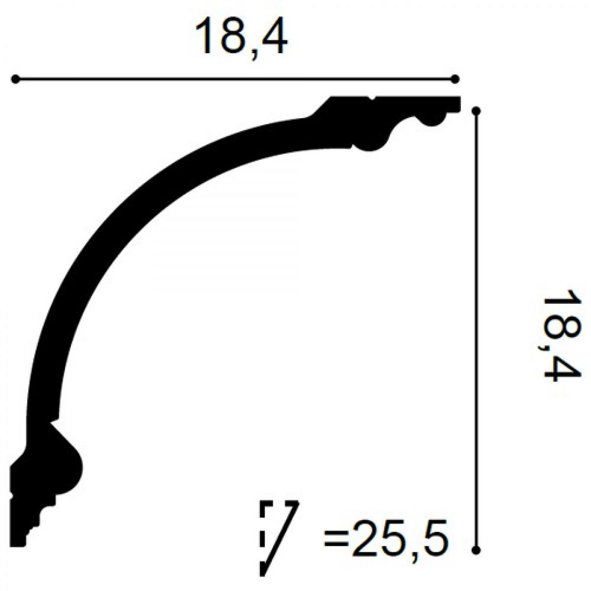 Cornisa Luxxus C338, Dimensiuni: 200 X 18.4 X 18.4 cm, Orac Decor