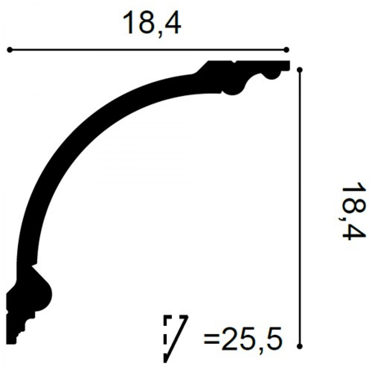 Cornisa Luxxus C338A, Dimensiuni: 200 X 18.4 X 18.4 cm, Orac Decor