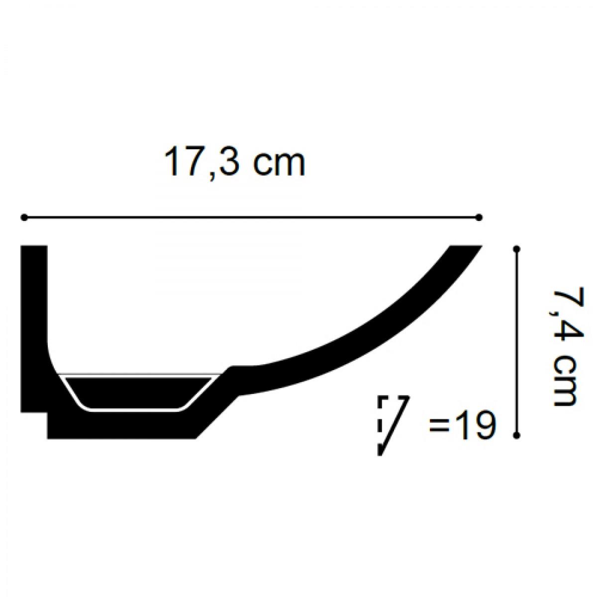 Cornisa Luxxus C351, Dimensiuni: 200 X 7.4 X 17.3 cm, Orac Decor