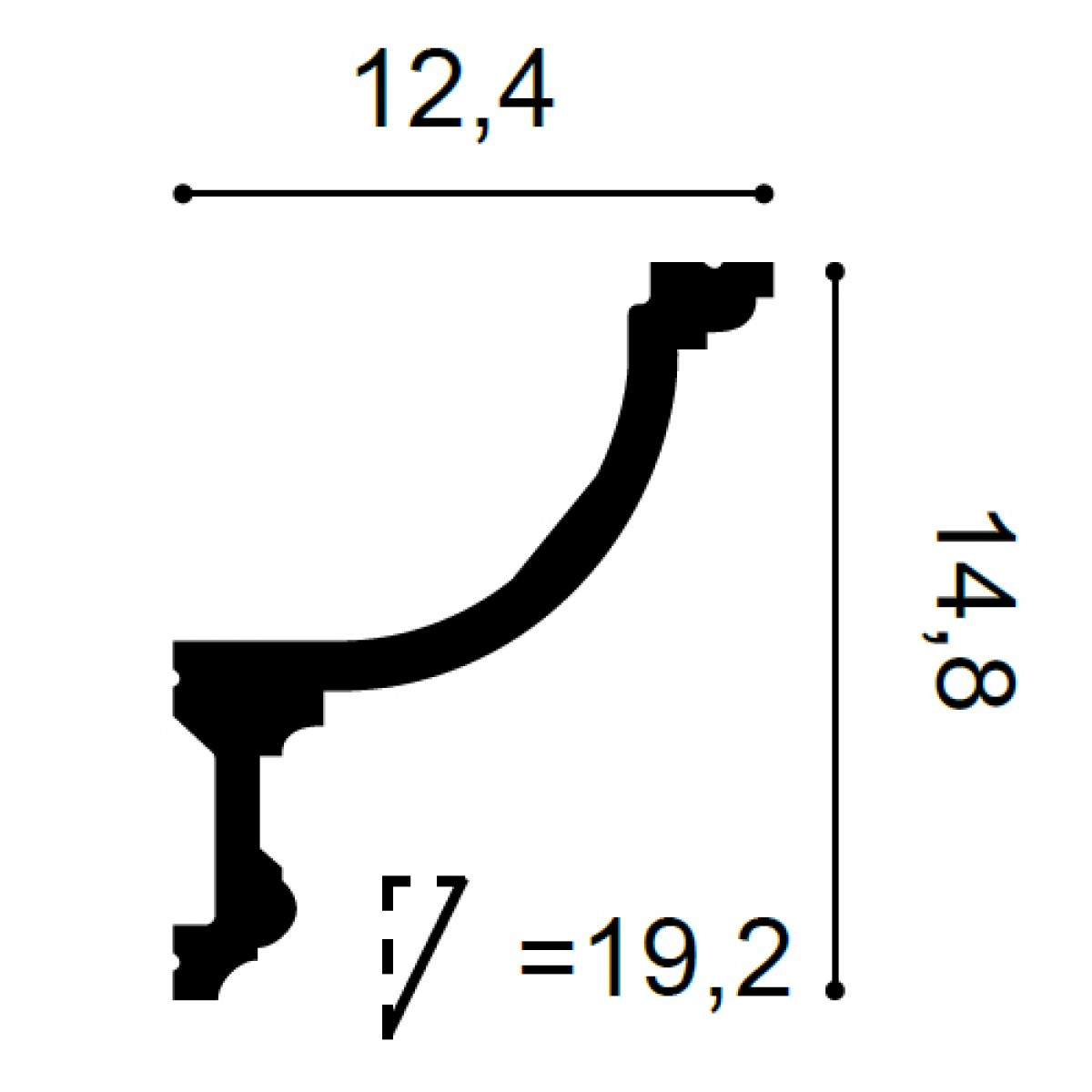 Scafa Luxxus C901, Dimensiuni: 200 X 15.2 X 12.4 cm, Orac Decor