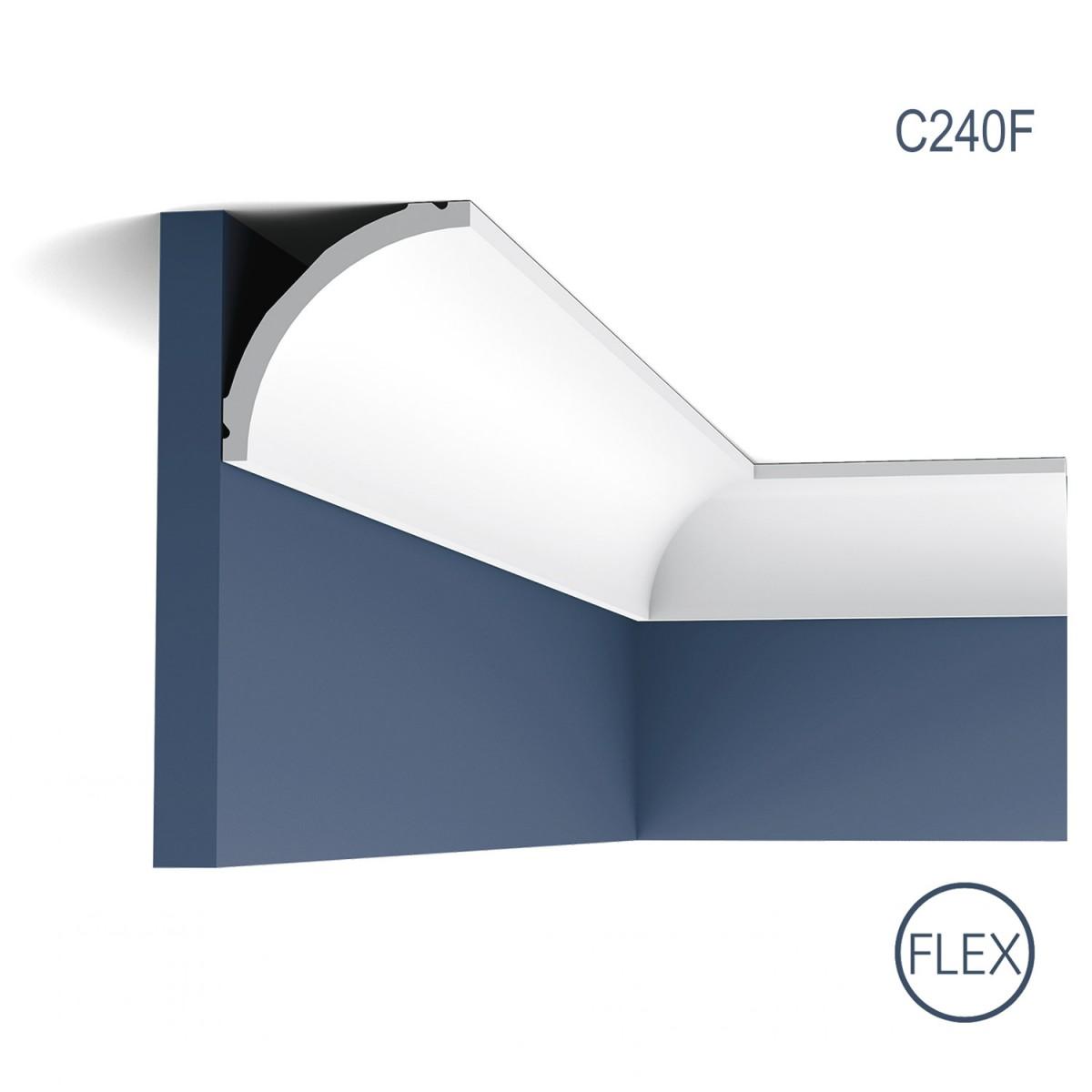 Cornisa Flex Luxxus C240F, Dimensiuni: 200 X 8 X 8 cm, Orac Decor