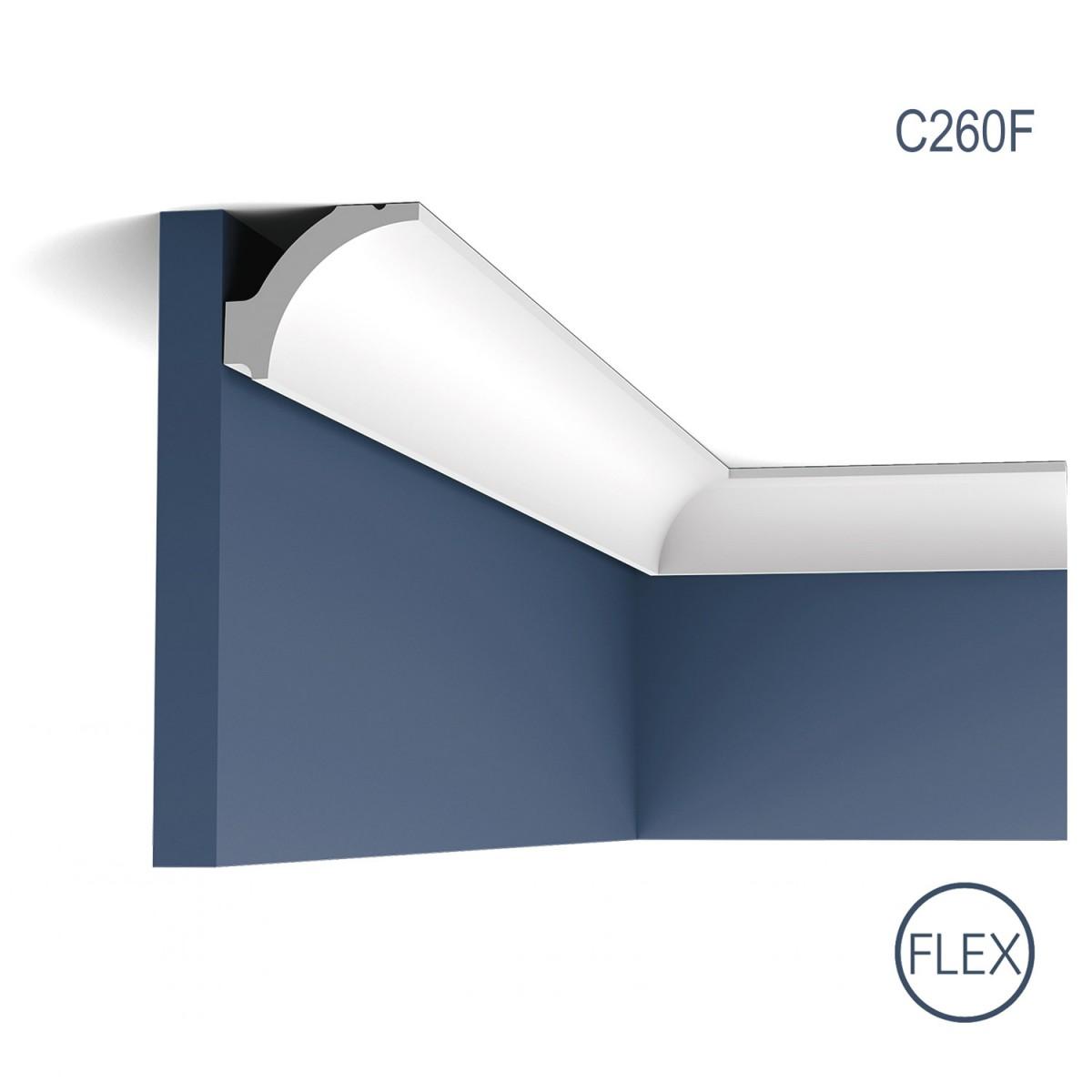 Cornisa Flex Luxxus C260F, Dimensiuni: 200 X 4.1 X 4.8 cm, Orac Decor