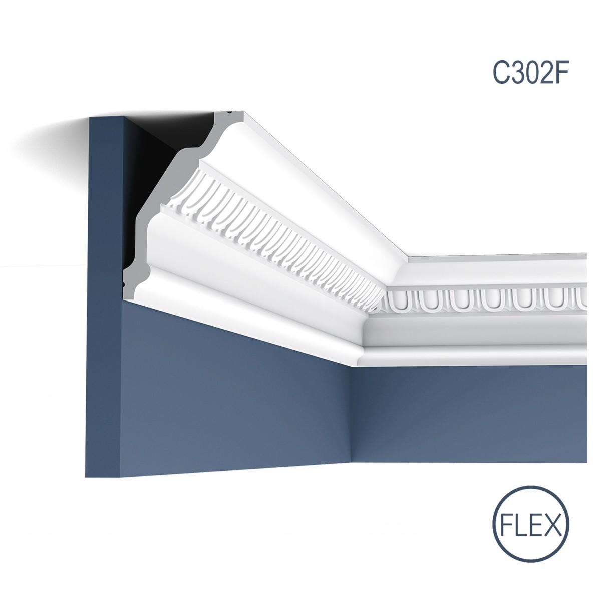 Cornisa Flex Luxxus C302F, Dimensiuni: 200 X 12.8 X 8.5 cm, Orac Decor