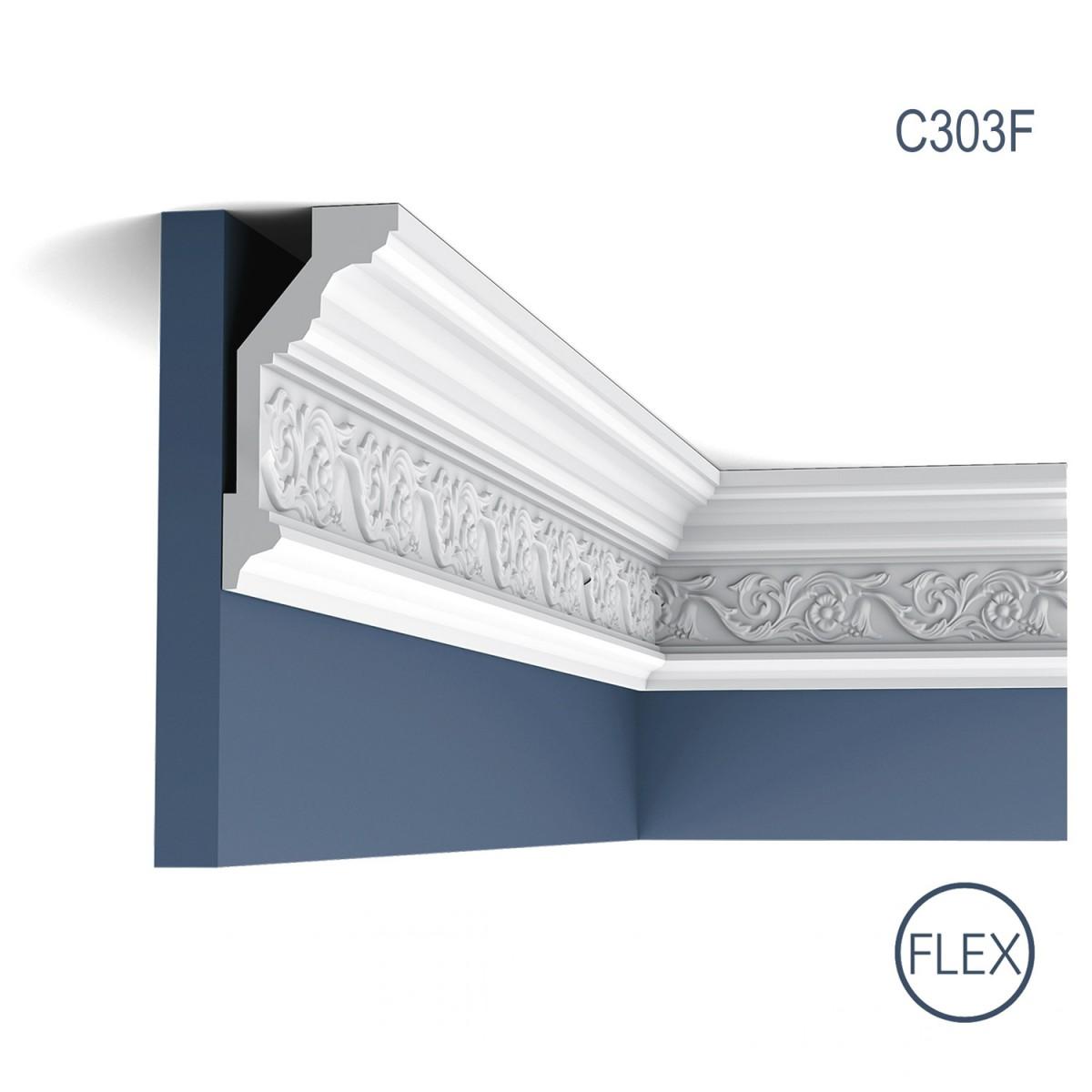 Cornisa Flex Luxxus C303F, Dimensiuni: 200 X 14.4 X 6.5 cm, Orac Decor