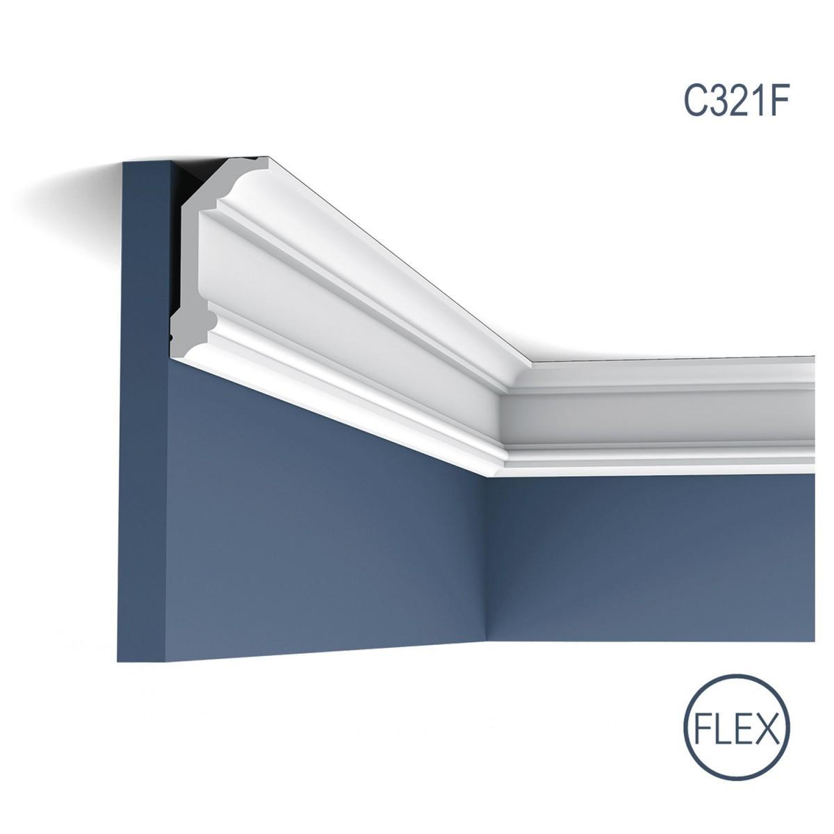 Cornisa Flex Luxxus C321F, Dimensiuni: 200 X 9.9 X 5 cm, Orac Decor