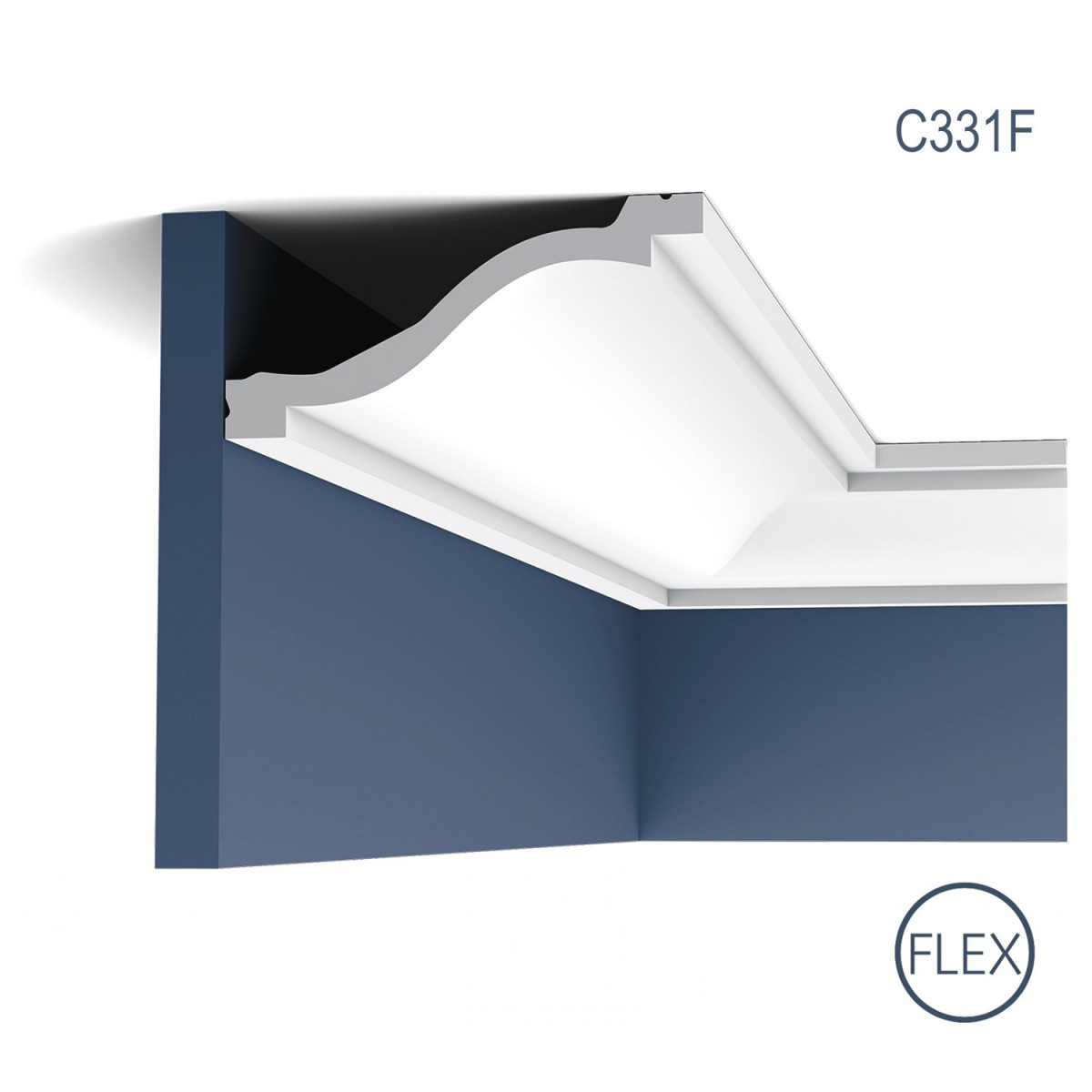 Cornisa Flex Luxxus C331F, Dimensiuni: 200 X 6.4 X 13.5 cm, Orac Decor