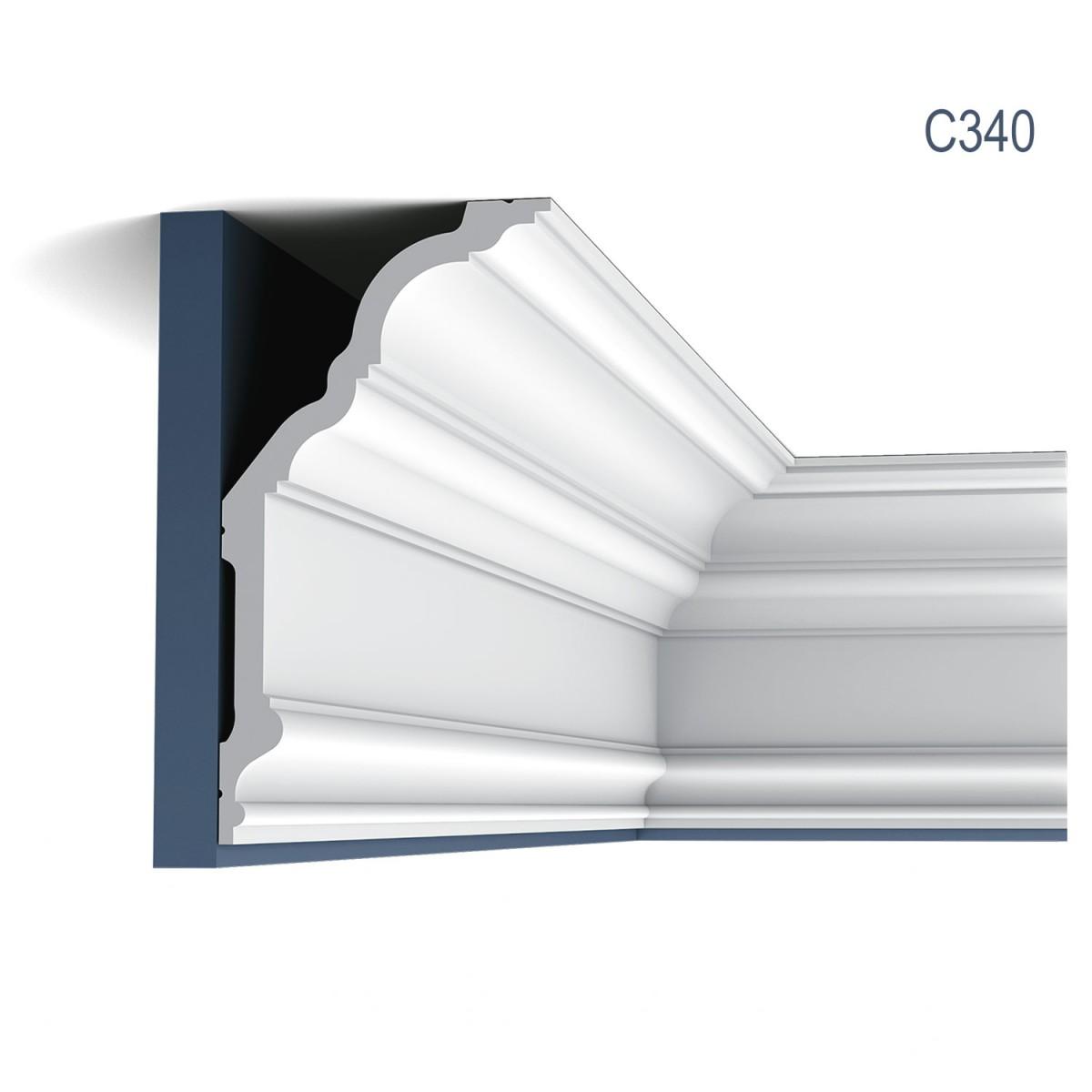 Cornisa Luxxus C340, Dimensiuni: 200 X 25.6 X 13.5 cm, Orac Decor