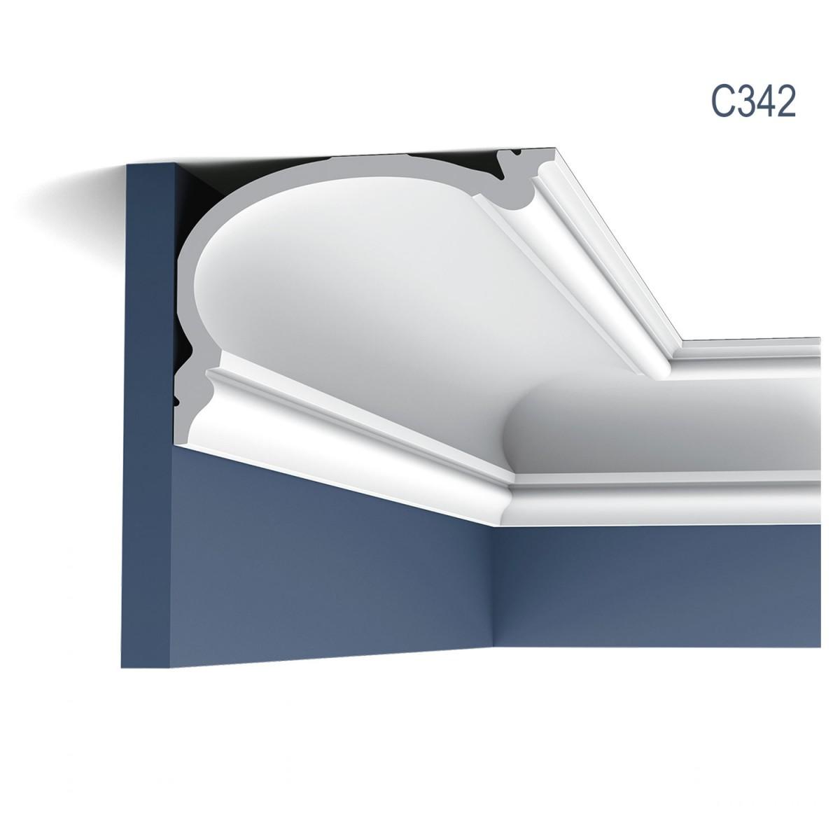 Cornisa Luxxus C342, Dimensiuni: 200 X 19 X 14 cm, Orac Decor
