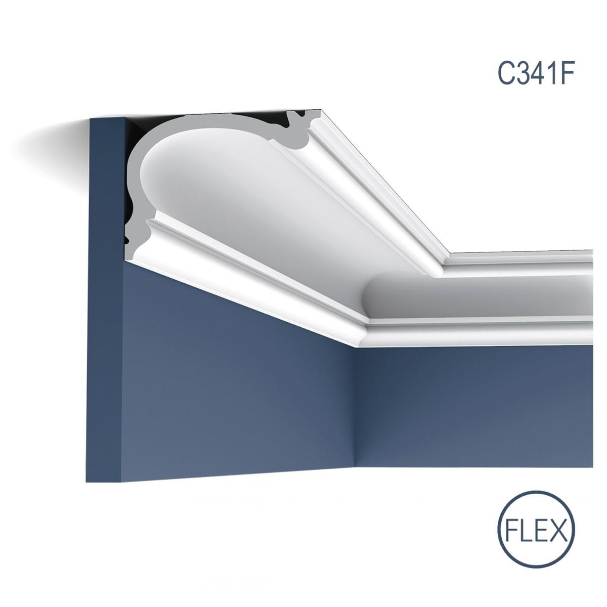 Cornisa Flex Luxxus C341F, Dimensiuni: 200 X 12.2 X 8.8 cm, Orac Decor