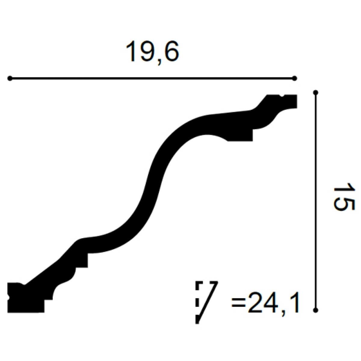 Cornisa Flex Luxxus C334F, Dimensiuni: 200 X 15 X 19.6 cm, Orac Decor