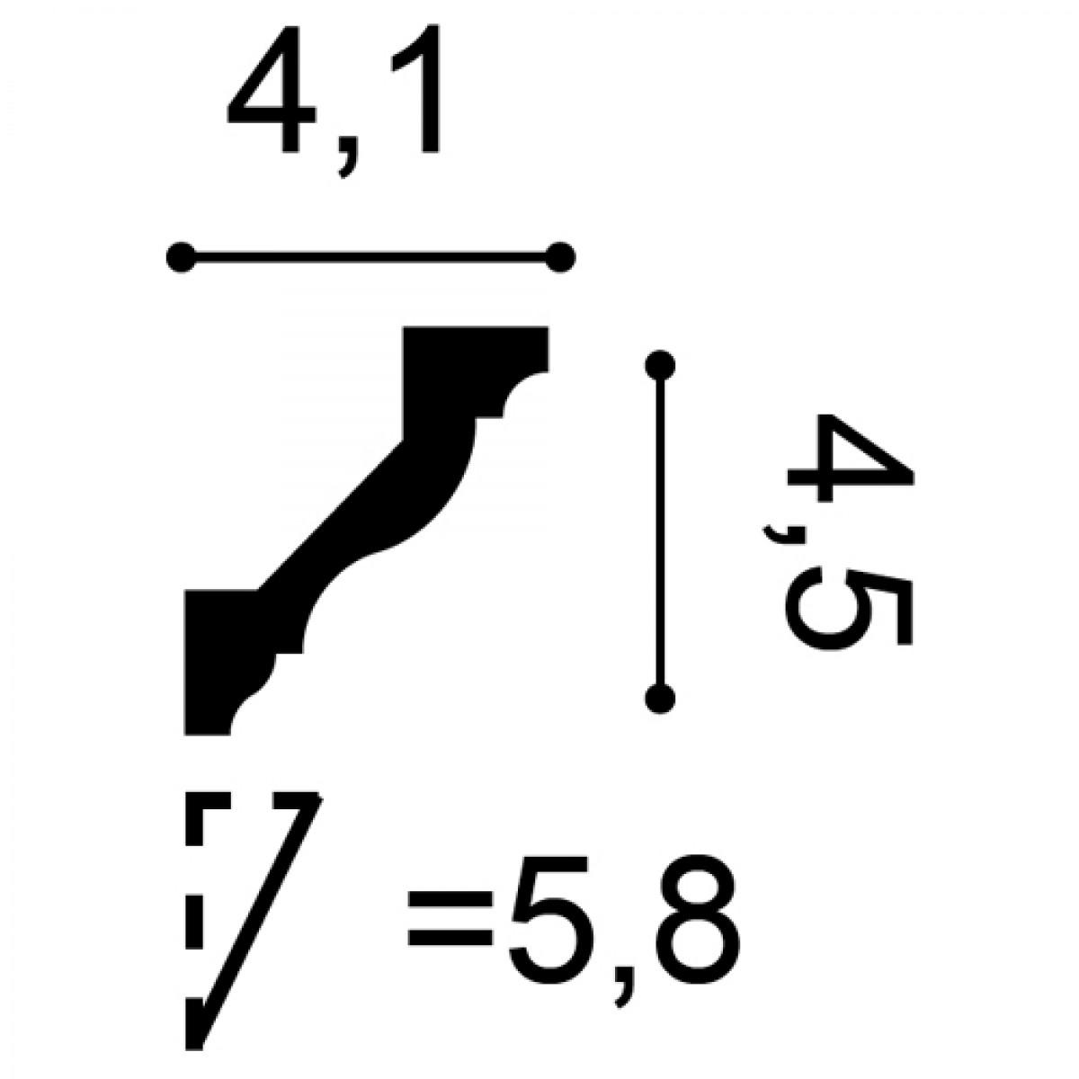 Cornisa Axxent CX110, Dimensiuni: 200 X 4.5 X 4.1 cm, Orac Decor