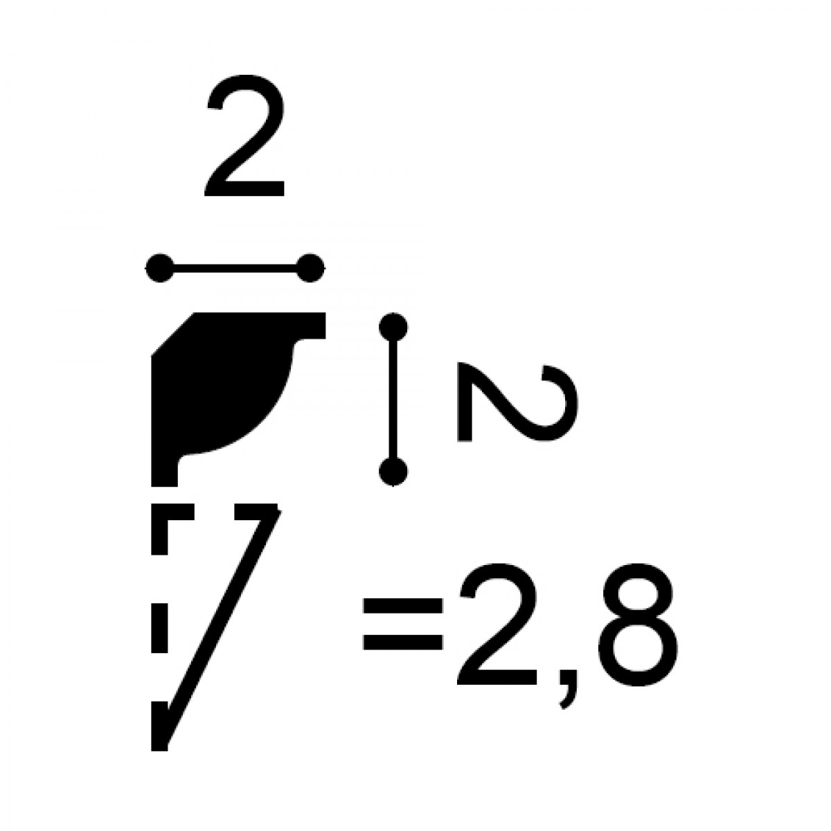 Cornisa Flex Axxent CX132F, Dimensiuni: 200 X 2 X 2 cm, Orac Decor