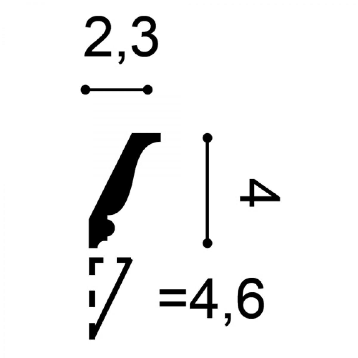 Cornisa Axxent CX151, Dimensiuni: 200 X 4 X 2.3 cm, Orac Decor