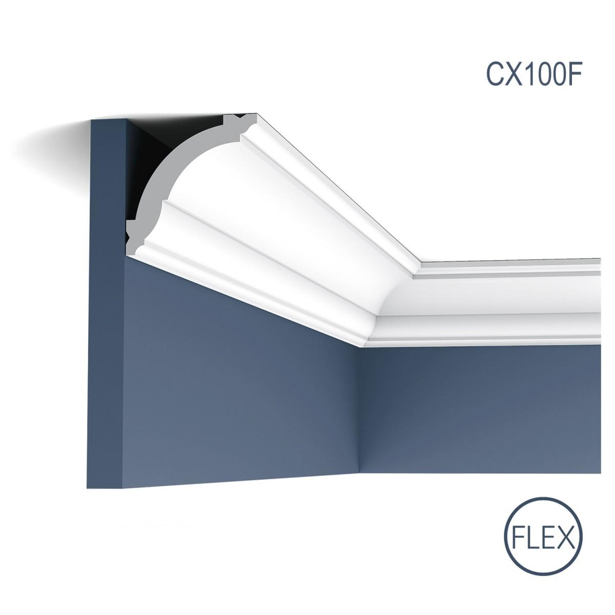 Cornisa Flex Axxent CX100F, Dimensiuni: 200 X 6.9 X 7.1 cm, Orac Decor