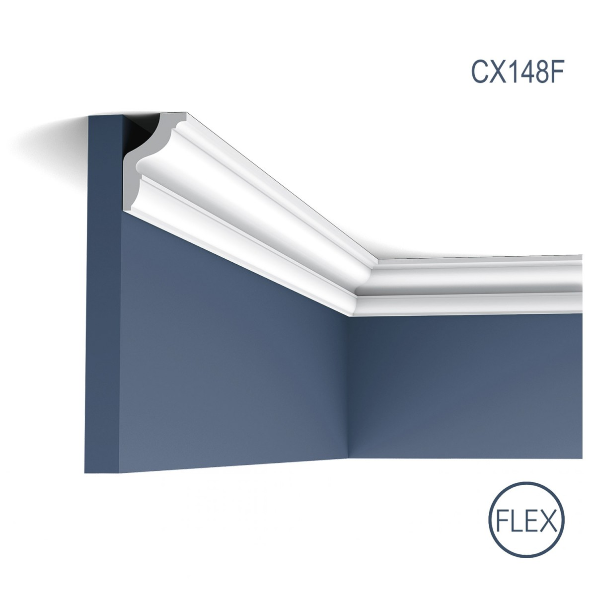 Cornisa Flex Axxent CX148F, Dimensiuni: 200 X 4.3 X 2.9 cm, Orac Decor