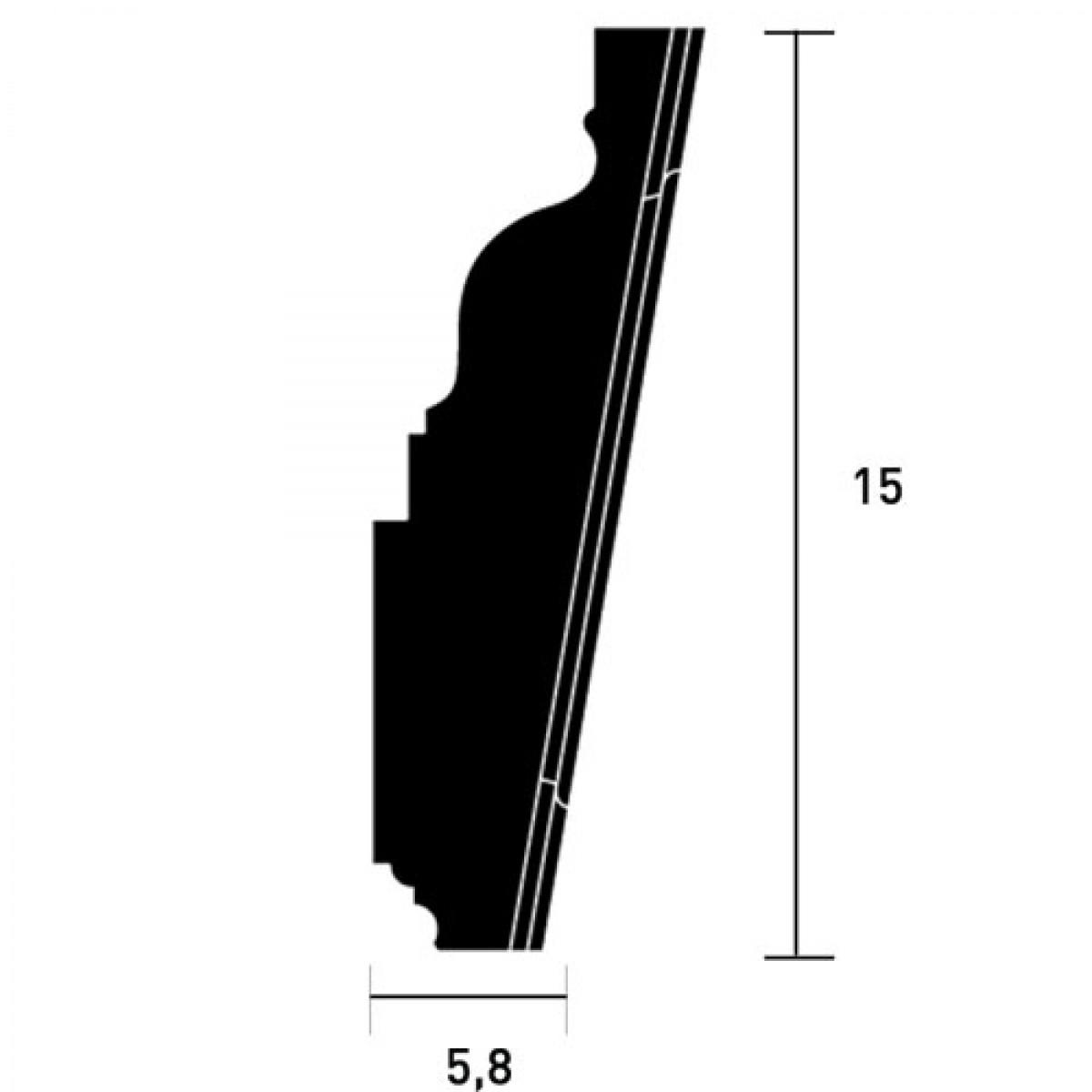 Cheita Fronton Luxxus D402, Dimensiuni: 15 X 12.1 X 5.8 cm, Orac Decor