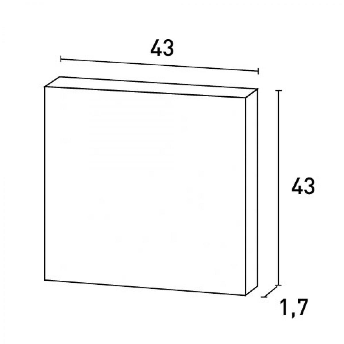Panou Usa Luxxus D506, Dimensiuni: 43 X 43 X 1.7 cm, Orac Decor