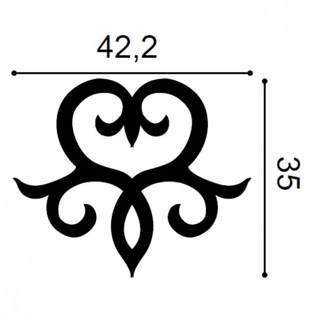 Element Decorativ Ulf Moritz G71, Dimensiuni: 42.2 X 35 X 1.5 cm, Orac Decor