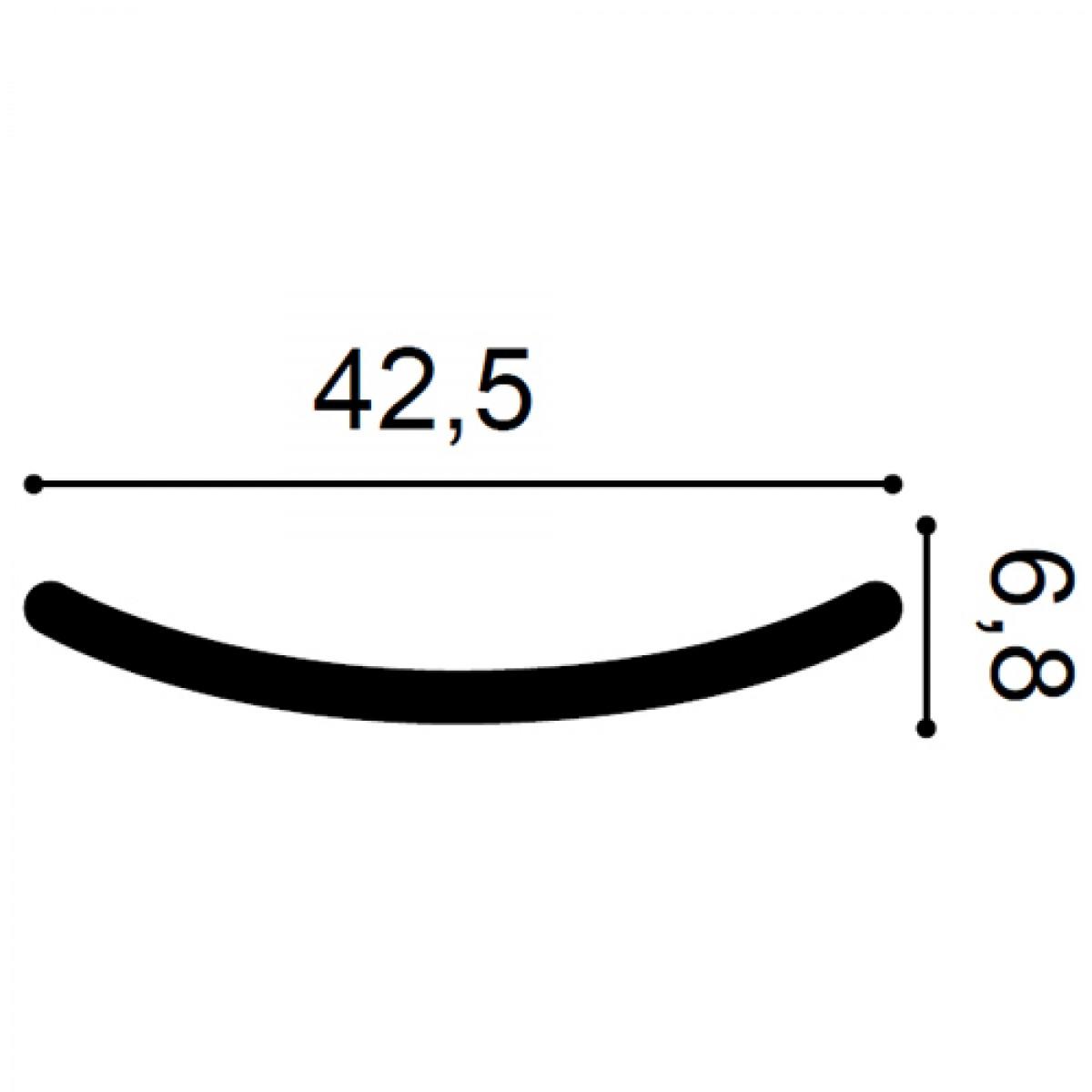 Element Decorativ Ulf Moritz G72, Dimensiuni: 42.5 X 6.8 X 1 cm, Orac Decor
