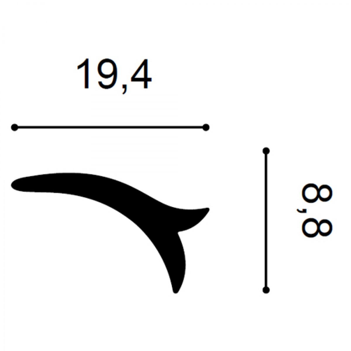 Element Decorativ Ulf Moritz G77, Dimensiuni: 19.2 X 9 X 1.8 cm, Orac Decor