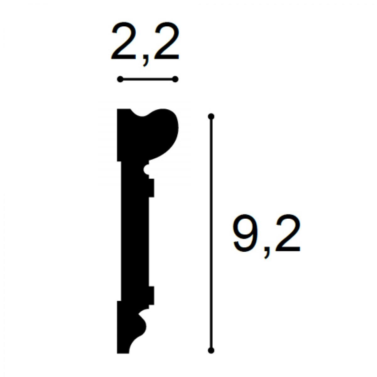 Ancadrament Usa Luxxus DX119-2300, Dimensiuni: 230 X 9.2 X 2.2 cm, Orac Decor