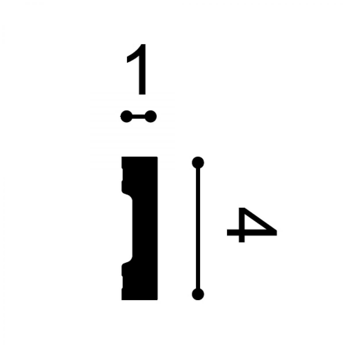 Plintă / Ancadrament Ușă Axxent SX162, Dimensiuni: 200 X 4 X 1 cm, Orac Decor