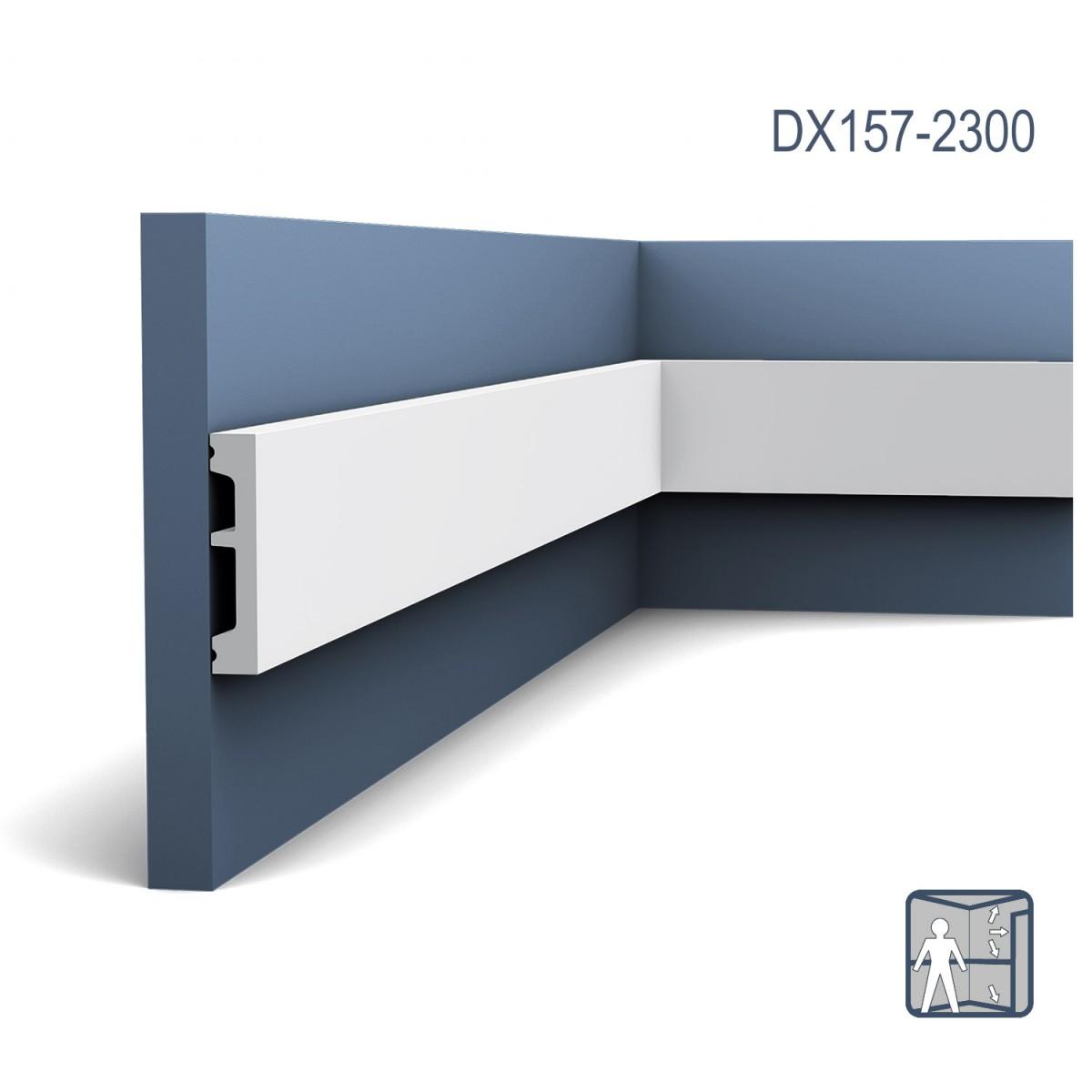 Plinta Axxent SX157, Dimensiuni: 200 X 6.6 X 1.3 cm, Orac Decor