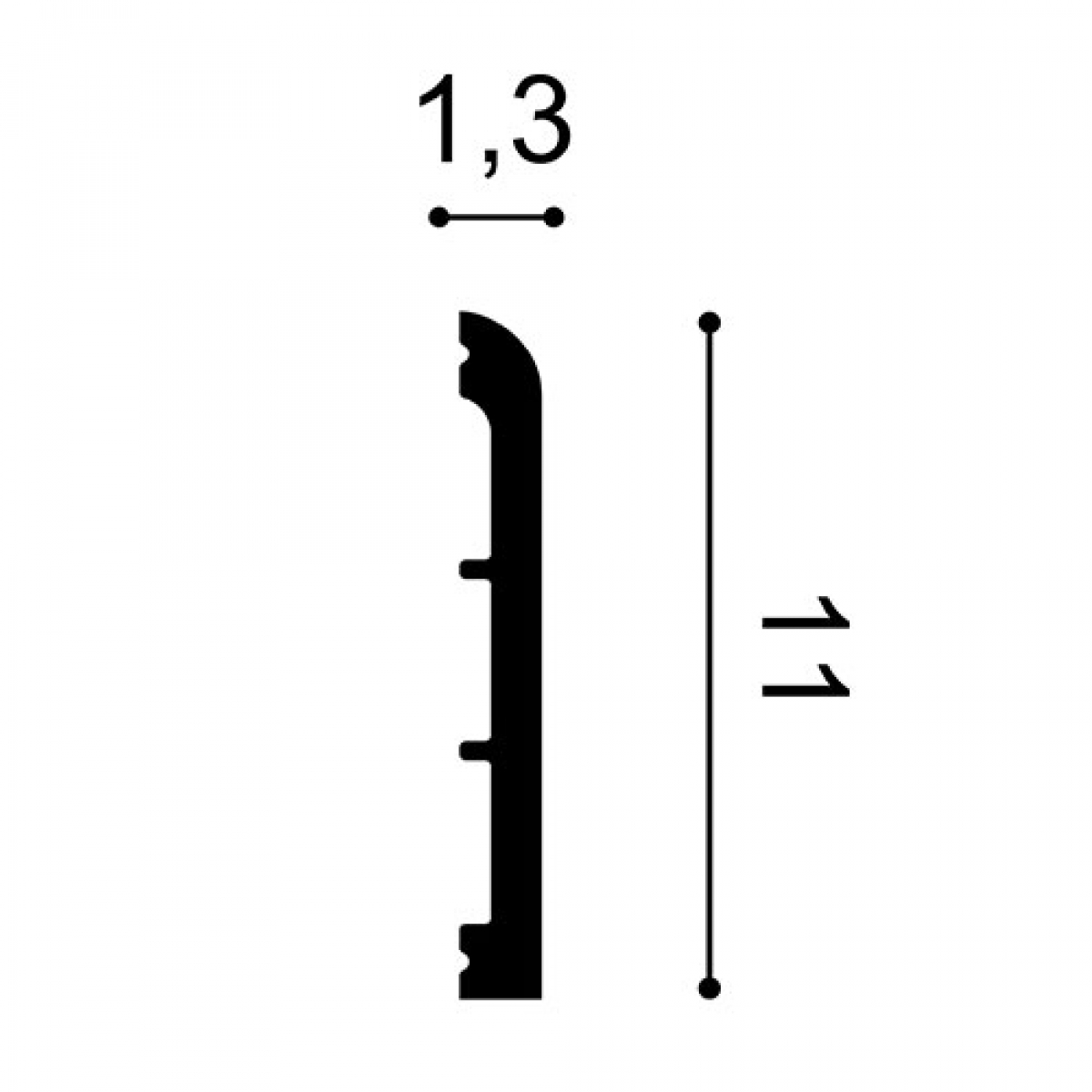 Ancadrament Usa Axxent DX184-2300, Dimensiuni: 230 X 11 X 1.3 cm, Orac Decor