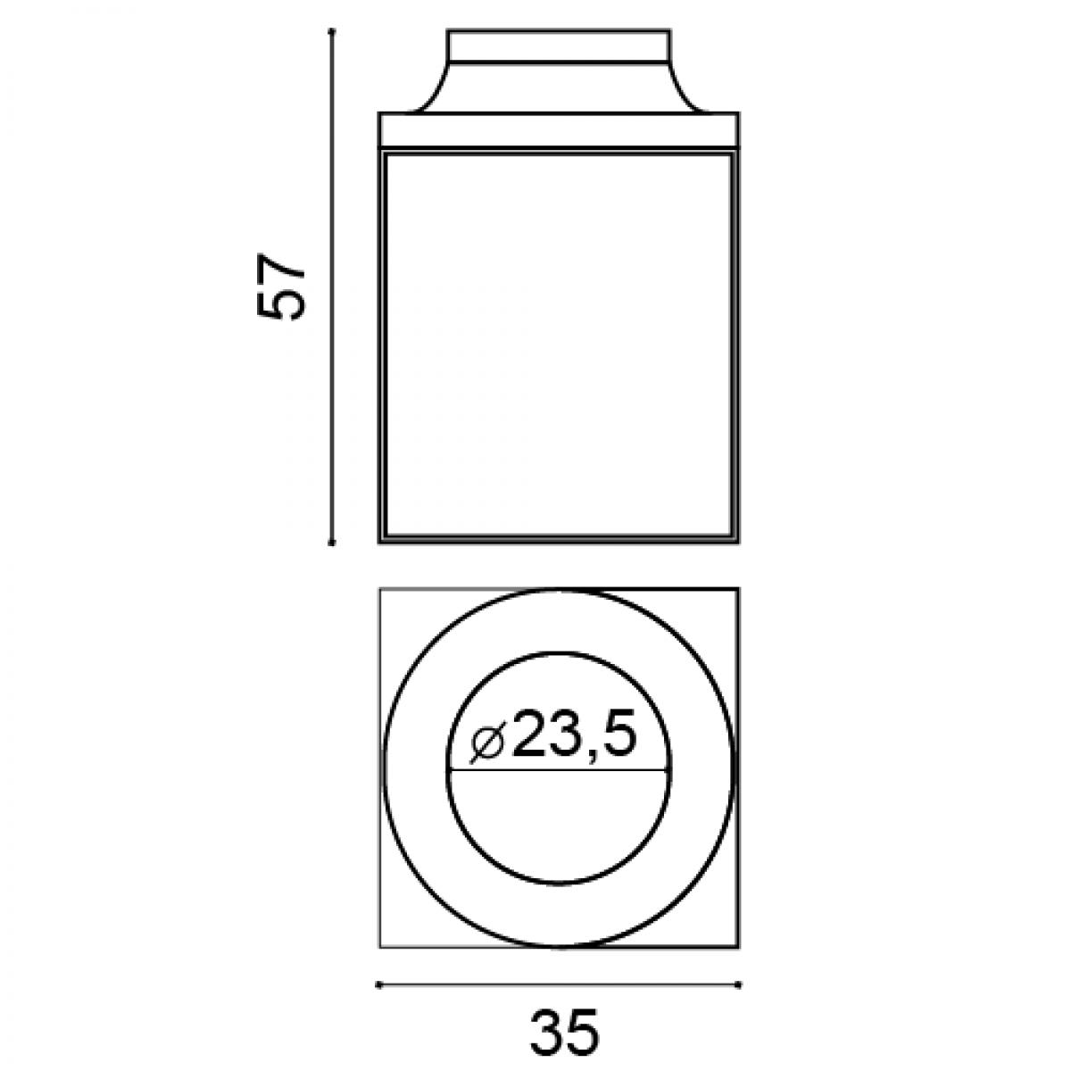 Baza Intreaga Luxxus K1132, Dimensiuni: 35 X 35 X 57.5 cm, Orac Decor