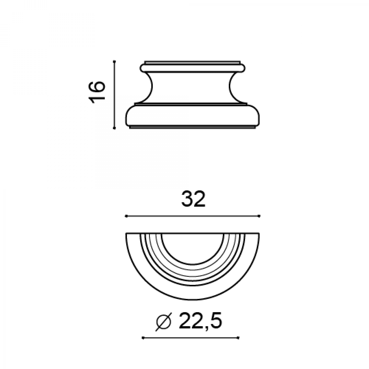 Jumatate De Baza Luxxus K1151, Dimensiuni: 32 X 16 X 12.5 cm, Orac Decor