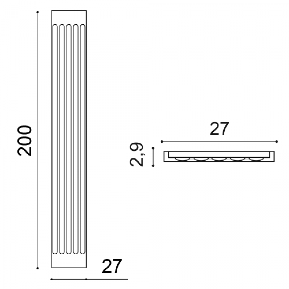 Pilastru Luxxus K250, Dimensiuni: 27 X 2.9 X 200 cm, Orac Decor