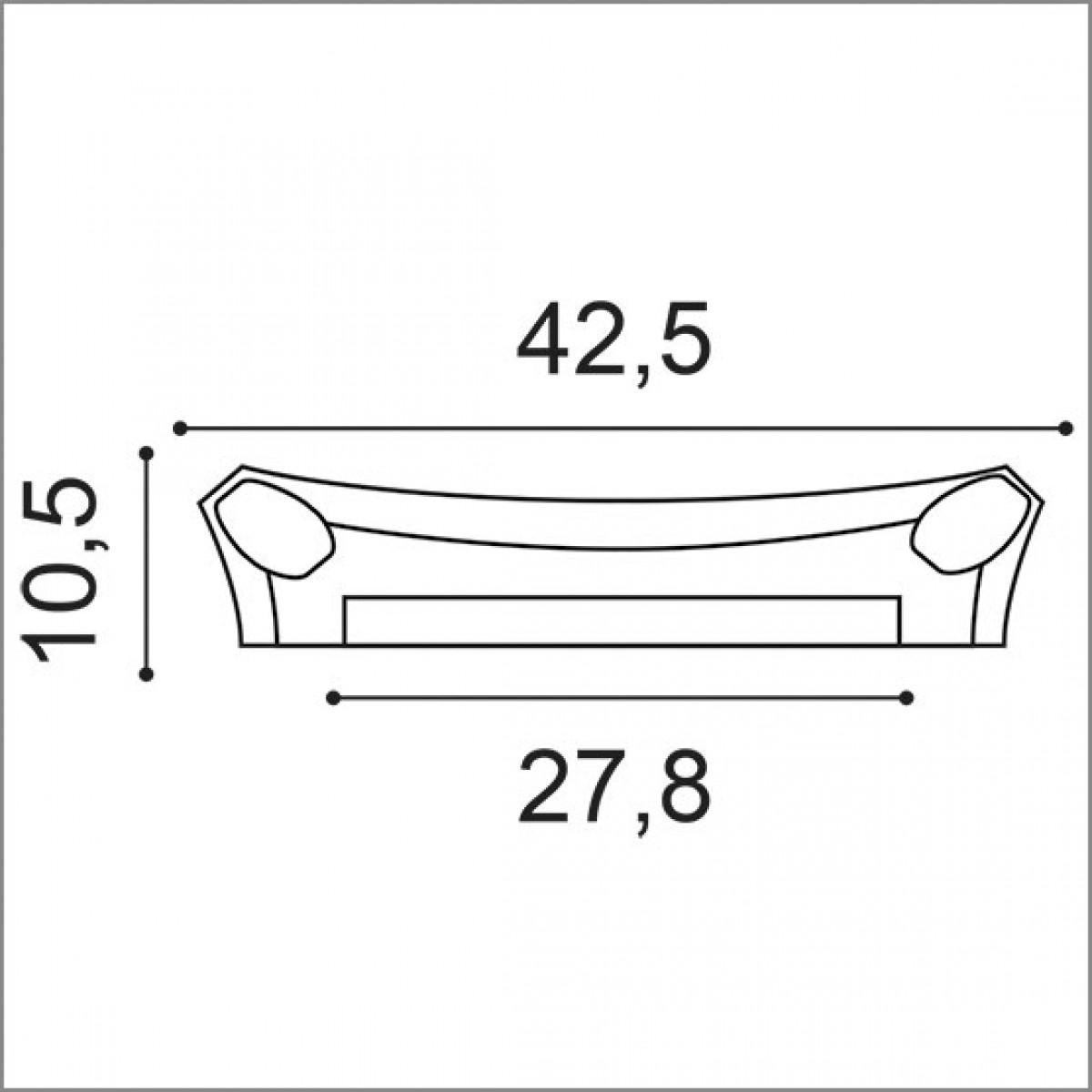 Capitel Luxxus K251, Dimensiuni: 10.5 X 35 X 42.5 cm, Orac Decor