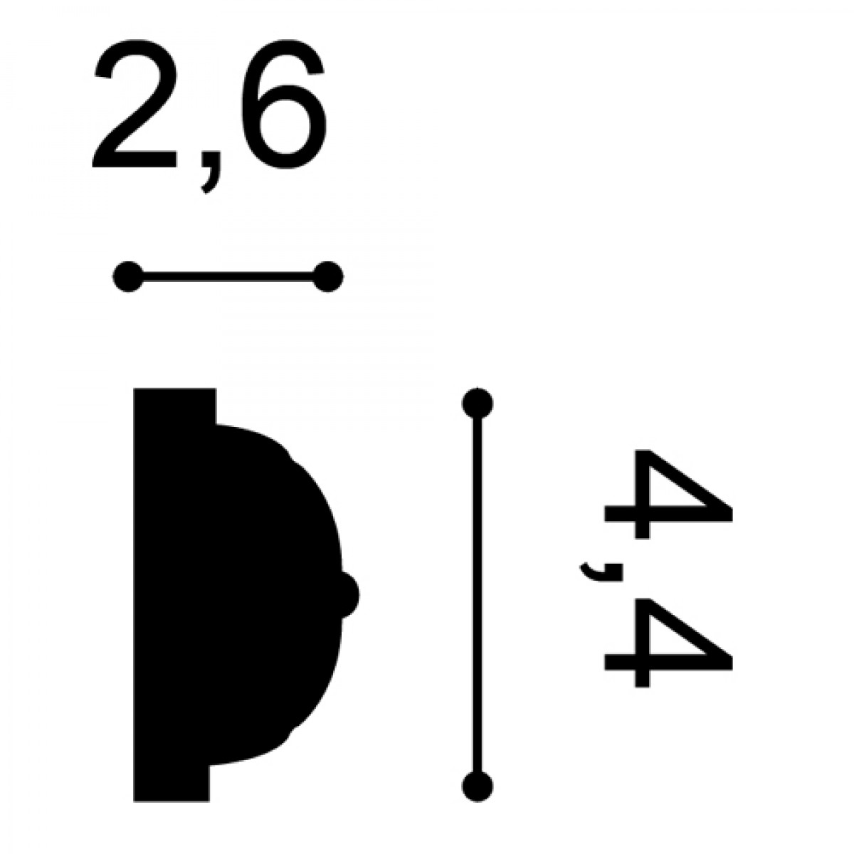 Brau Luxxus P2020, Dimensiuni: 200 X 4.4 X 2.6 cm, Orac Decor