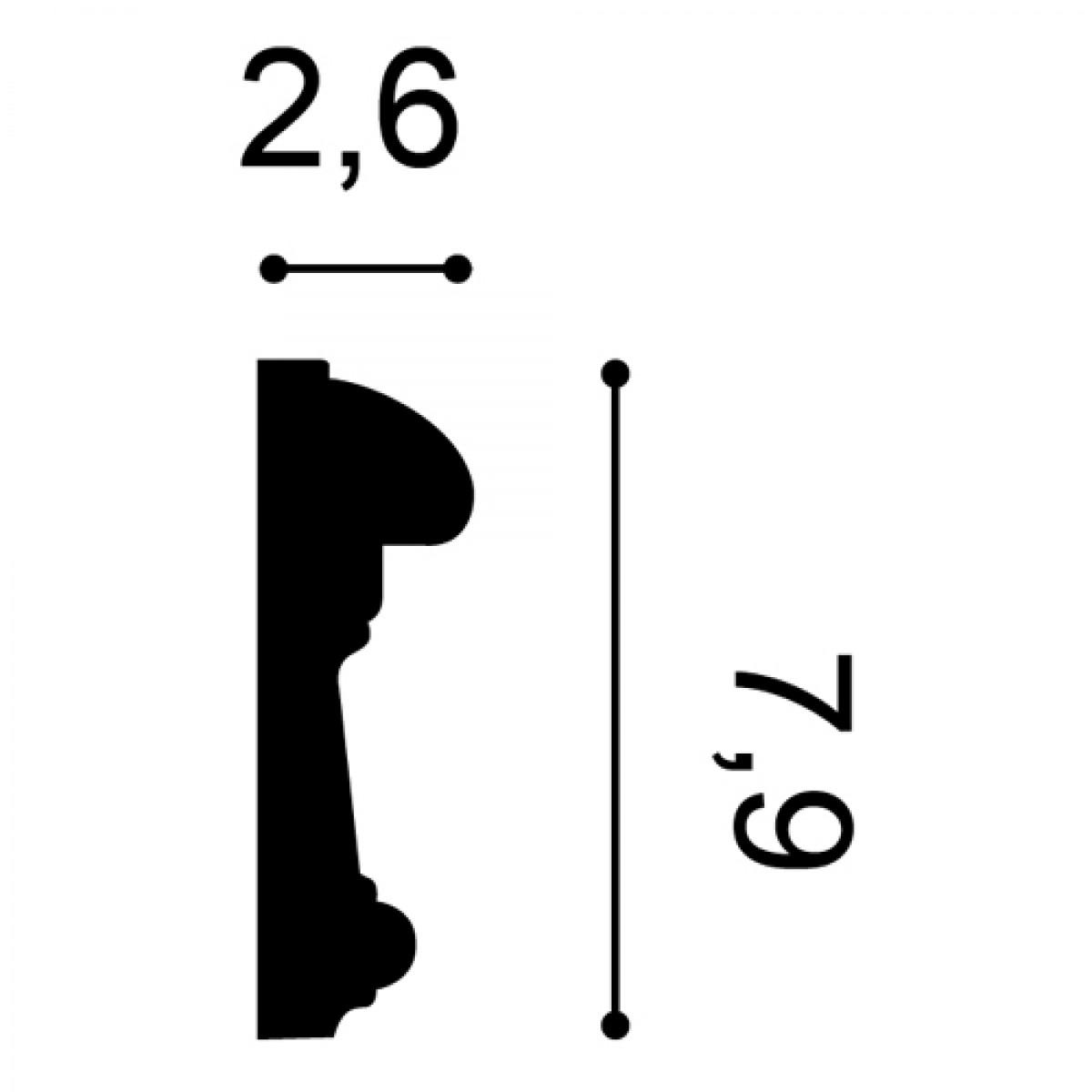 Brau Luxxus P7040, Dimensiuni: 200 X 7.9 X 2.6 cm, Orac Decor