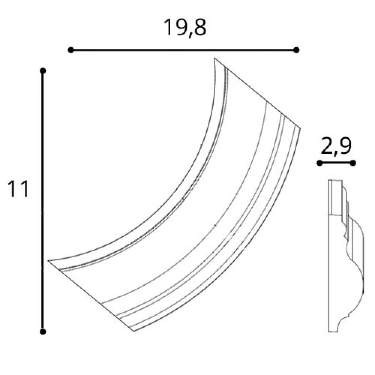 Coltar Pentru P8020 Luxxus P801C, Dimensiuni: 19.8 X 11 X 2.6 cm, Orac Decor