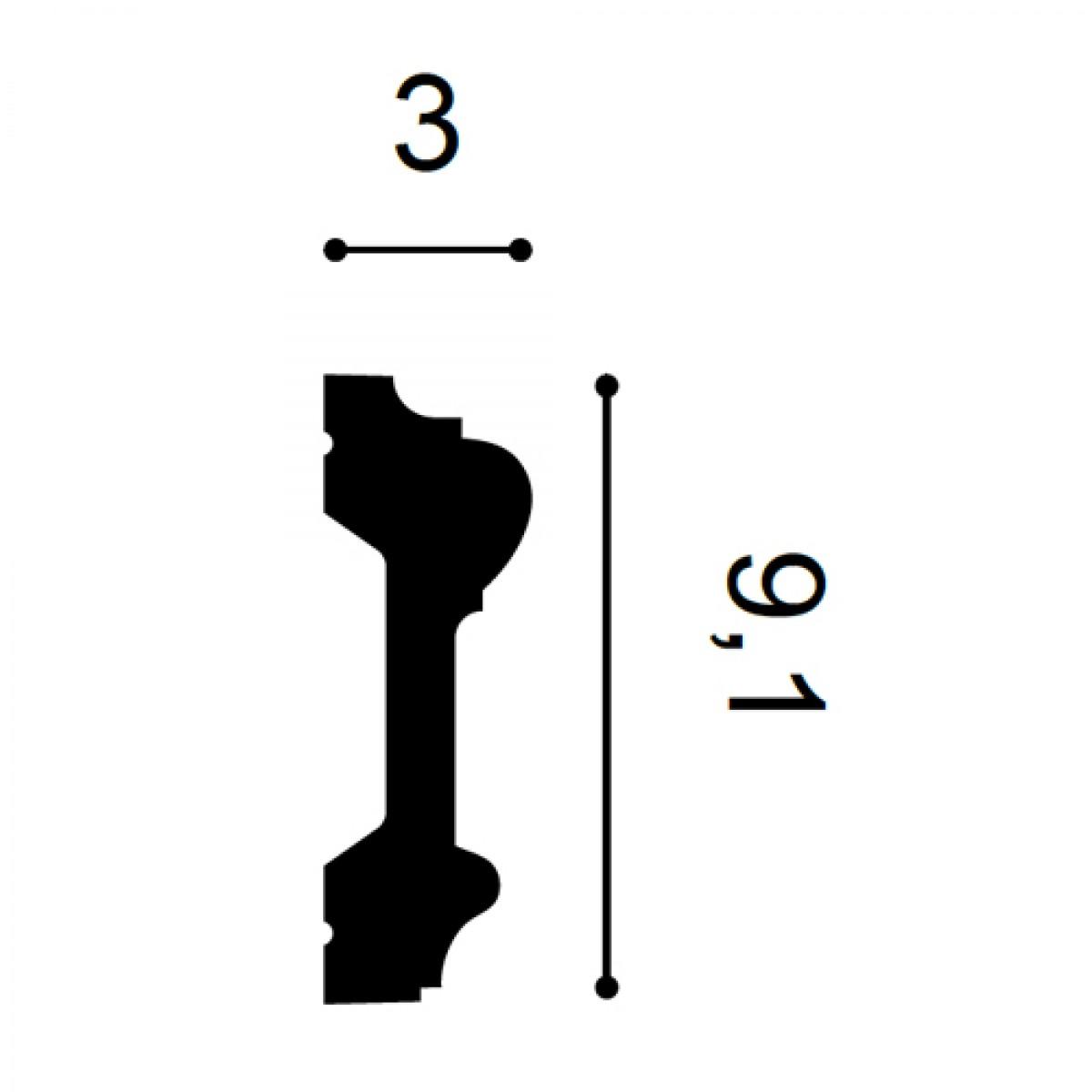 Brau Luxxus P9010, Dimensiuni: 200 X 9.1 X 3 cm, Orac Decor