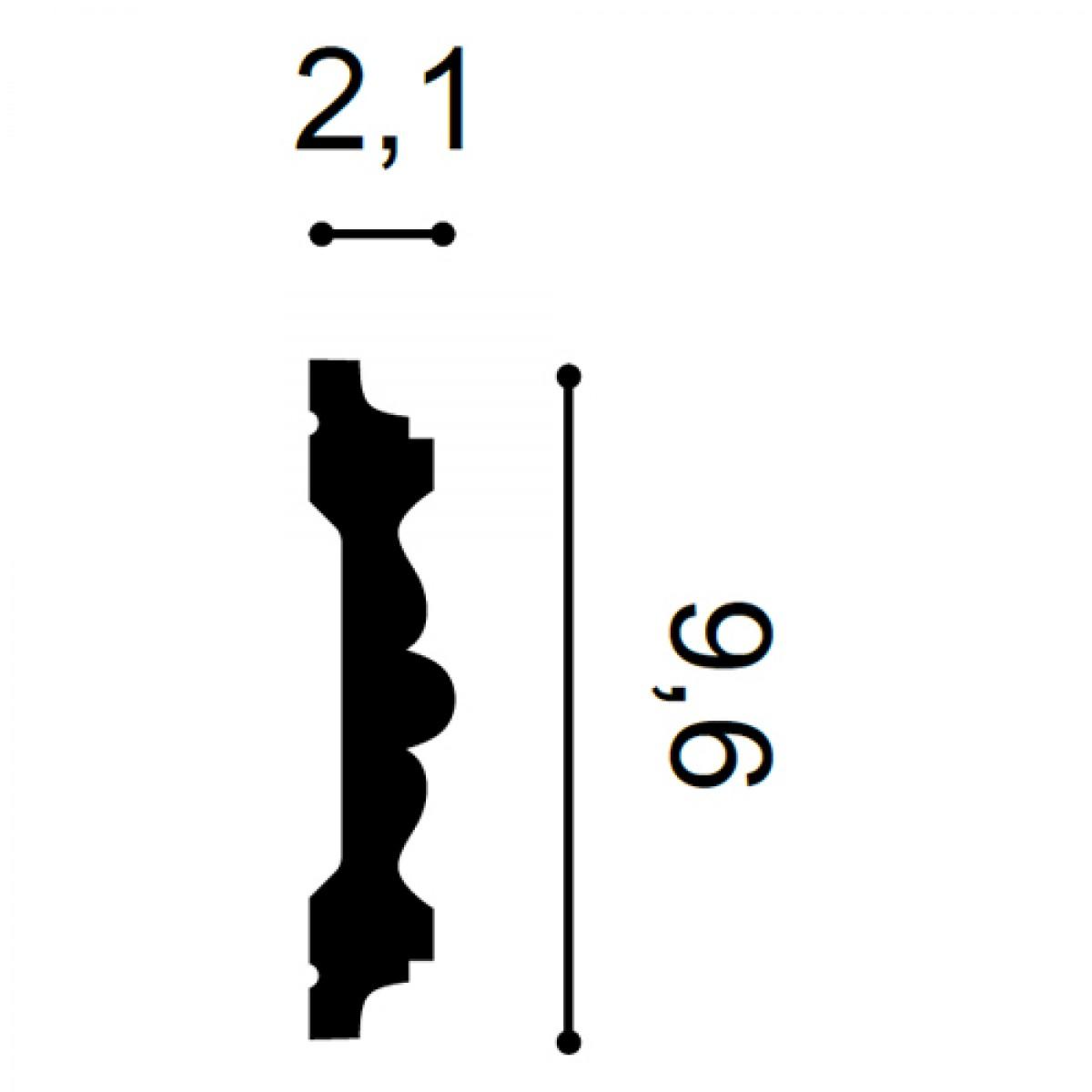Brau Luxxus P9020, Dimensiuni: 200 X 9.6 X 2.1 cm, Orac Decor