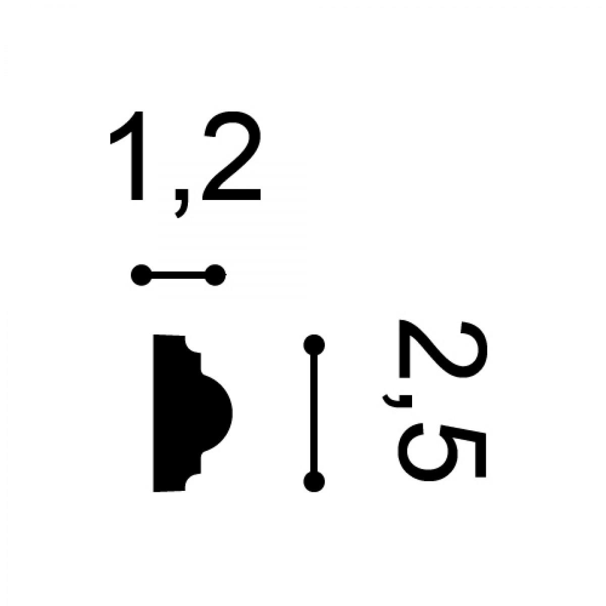 Brau Axxent PX103, Dimensiuni: 200 X 2.5 X 1.2 cm, Orac Decor