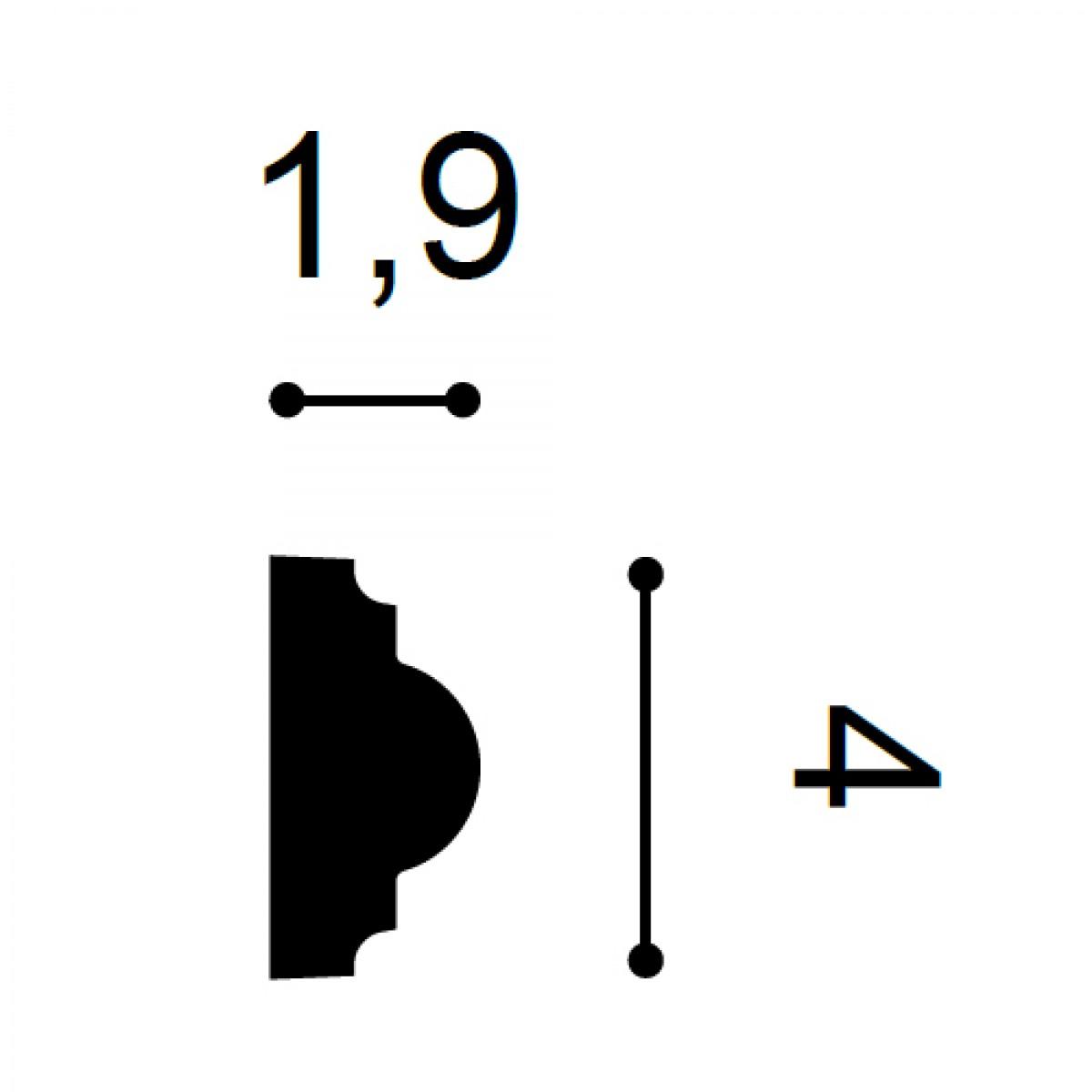 Brau Axxent PX131, Dimensiuni: 200 X 4 X 1.9 cm, Orac Decor