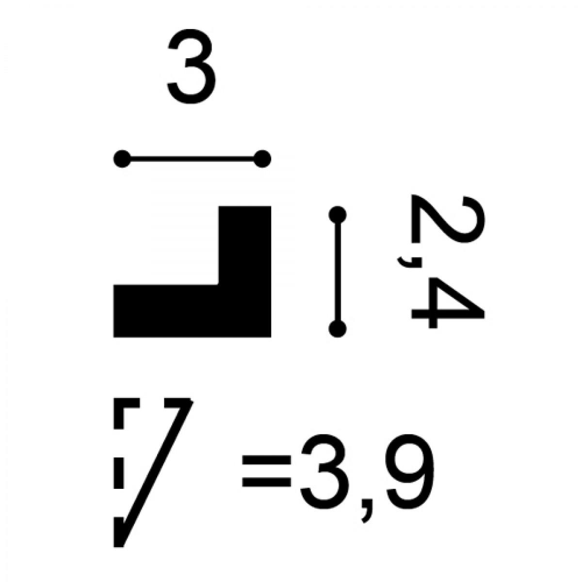 Brau Axxent PX164, Dimensiuni: 200 X 2.4 X 3 cm, Orac Decor