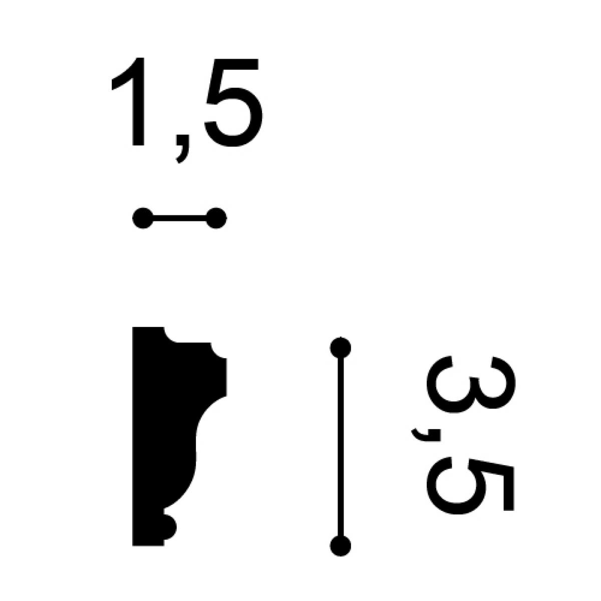 Brau Axxent PX117, Dimensiuni: 200 X 3.5 X 1.5 cm, Orac Decor