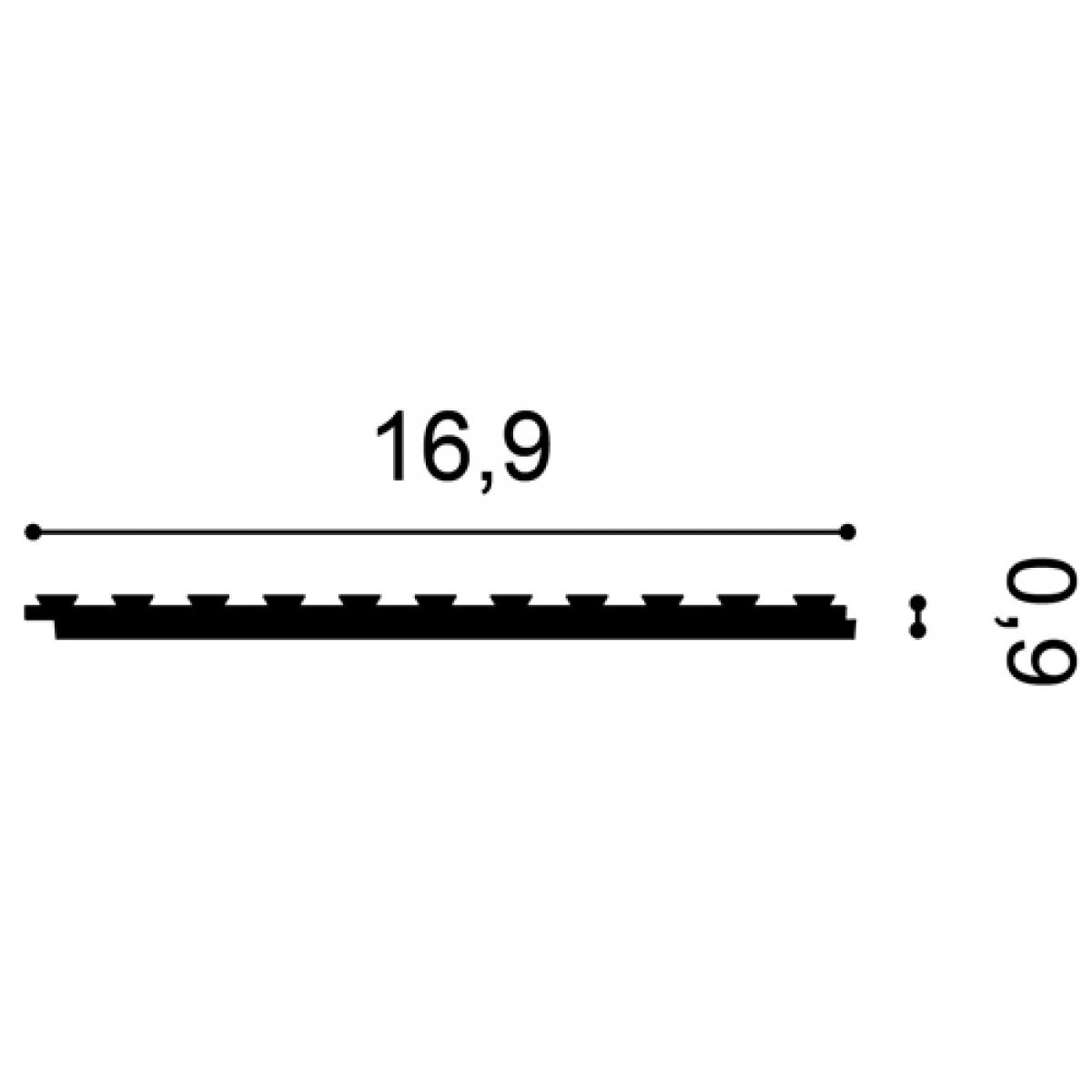 Brau Axxent PX147, Dimensiuni: 200 X 16.9 X 9.5 cm, Orac Decor