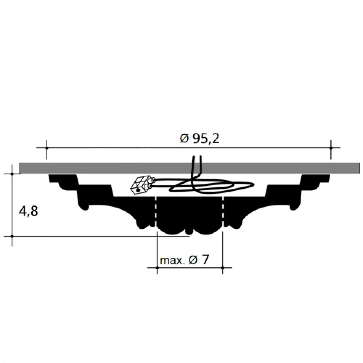 Rozeta Luxxus R64, Dimensiuni: diam. 95,2 cm (H: 4,8 cm), Orac Decor